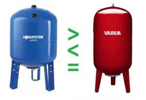 So sánh bình tích áp Varem và Aquasystem